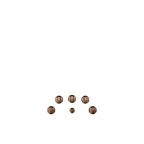 Café 5 Electric Cooktop Knobs - Brushed Copper