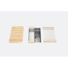 "SmartStation® 005400 - undermount stainless steel Kitchen sink , 12"" × 18 1/8"" × 10"" (Maple)"