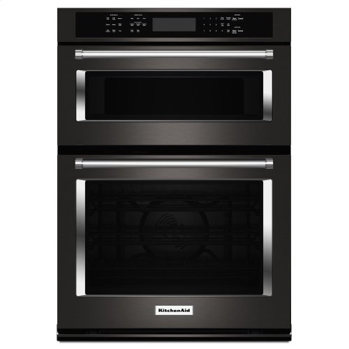 "30"" Combination Wall Oven with Even-Heat™ True Convection (Lower Oven) - Black Stainless"