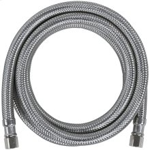 Braided Stainless Steel Ice Maker Connector, 4ft