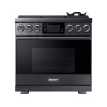 "36"" Pro Gas Range, Graphite Stainless Steel, Natural Gas"