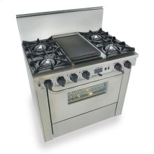 """36"""" Dual Fuel, Convect, Self-Clean, Open Burners, Stainless Steel"""