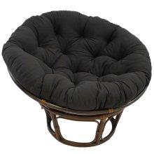 Bali 42-inch Indoor Fabric Rattan Papasan Chair - Walnut/Black