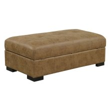 Storage Ottoman-Saddle Brown