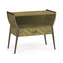 Rectangular Natural Oak Bedside Table