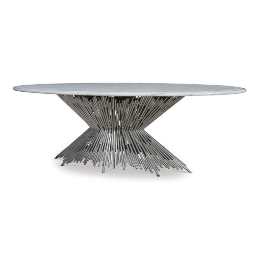 Pick Up Sticks Dining Table Base - Silve
