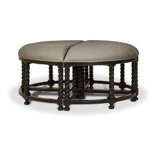 Regency Barley Twist 4 piece stool
