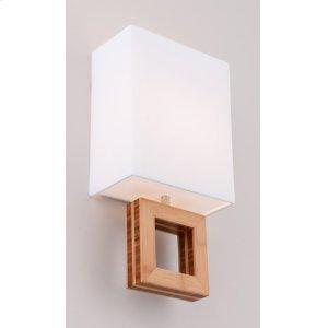 LED BOUTIQUE ARCADIA SINGLE SCONCE - BRUSHED ALUMINUM/BAMBOO