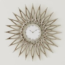 Dahlia Wall Clock-Nickel