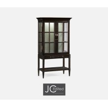 Dark Ale Glazed Display Cabinet with Strap Handles