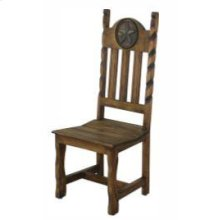 Dining Chair W/Rope&Star Wood Seat