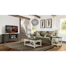 Grand Haven - Small Coffee Table - Feathered White/rich Charcoal Finish