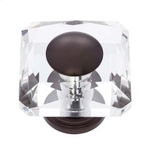 Old World Bronze 50 mm Square Crystal Knob