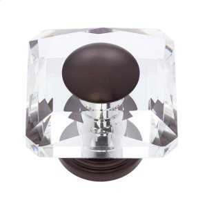 Old World Bronze 50 mm Square Crystal Knob Product Image
