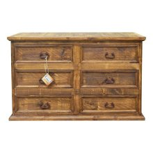 Brown Wb Budget 6 Drw Dresser