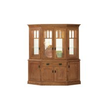 """Mission Canted Hutch 76"""" Buffet"""