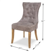 Sophie Side Chair,Gray Leather