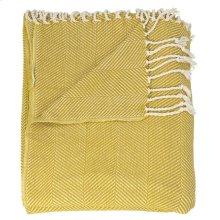 "Throw Sz008 Mustard 50"" X 70"" Throw Blanket"