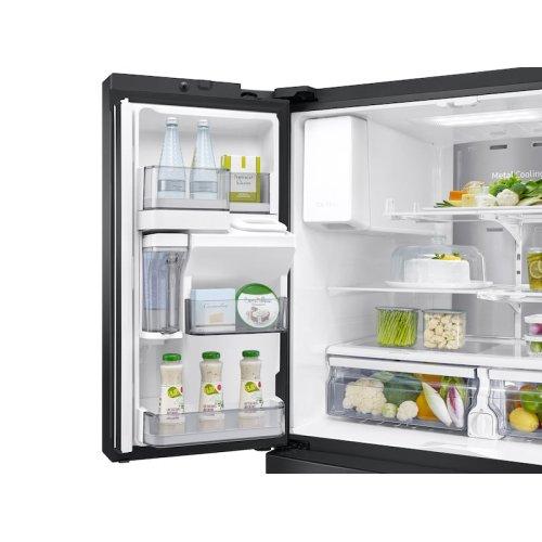 28 cu. ft. Food Showcase 4-Door French Door Refrigerator in Black Stainless Steel