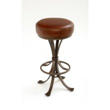 Steel Traditions - Crestone Swivel Barstool With Leather Seat