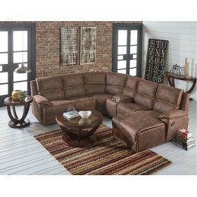 Armless Chair, Brown Fabric