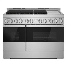 """48"""" NOIR Gas Professional-Style Range with Chrome-Infused Griddle"""