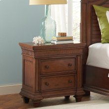 Windward Bay - Nightstand - Warm Rum Finish