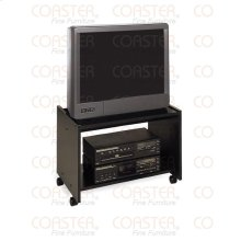"STAND/TV ON CASTERS WOOD BLK 25""TV """