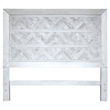 King Headboard, Available in Rustic Grey or Rustic White Finish.