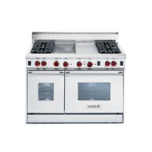 "48"" Gas Range - 4 burners, French Top"