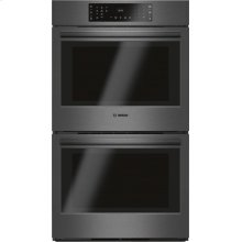 800 Series Double Wall Oven 30'' Black stainless steel