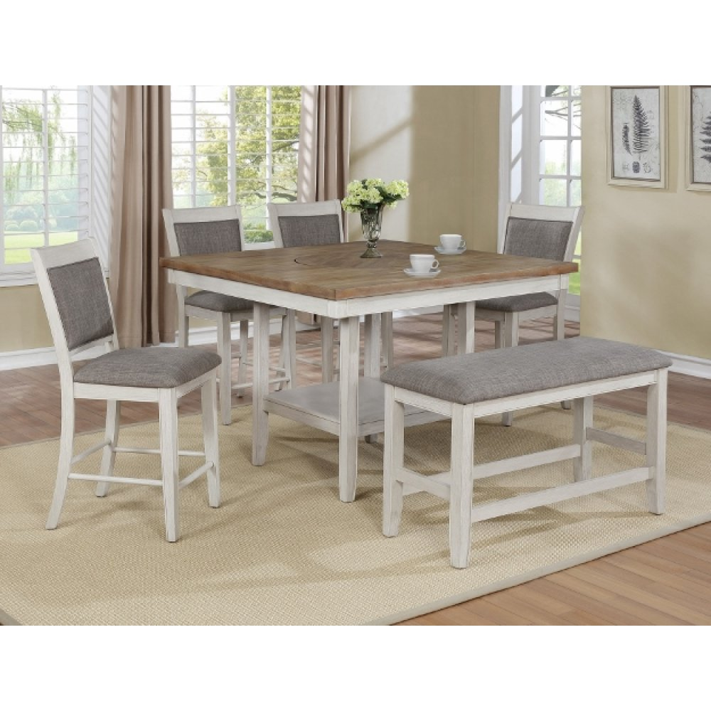 Fulton Counter Height Bench White