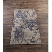Tan & Navy Multi Medallion 5' x 8' Jacquard Rug