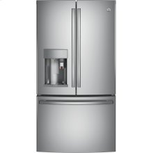 GE Profile™ Series ENERGY STAR® 27.8 Cu. Ft. French-Door Refrigerator with Keurig® K-Cup® Brewing System.  (This is a Stock Photo, actual unit (s) appearance may contain cosmetic blemishes. Please call store if you would like actual pictures). This unit carries A ONE YEAR MANUFACTURER WARRANTY. REBATE NOT VALID with this item. ISI 34169GH