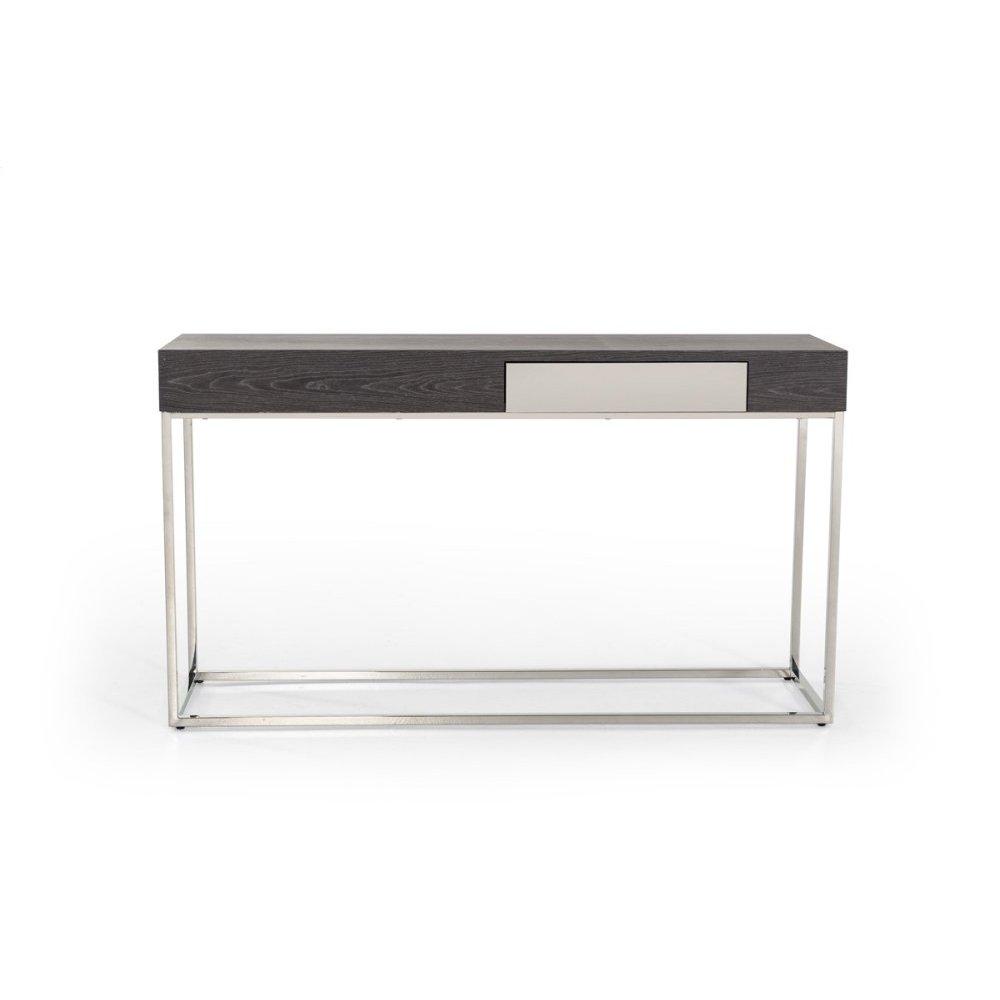 Modrest Vernon Modern Grey Elm Console Table