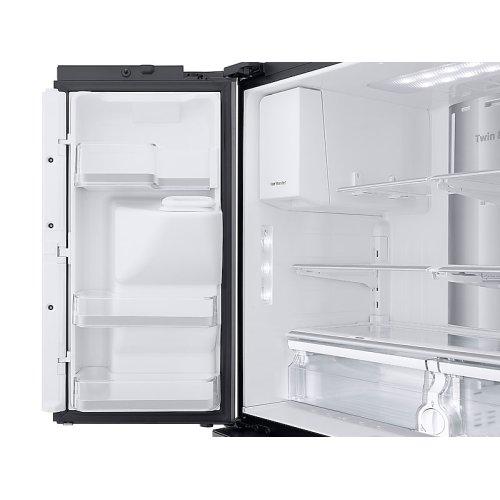 22 cu. ft. Family Hub Counter Depth 4-Door Flex Refrigerator in Black Stainless Steel
