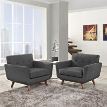 Engage Armchair Wood Set of 2 in Gray