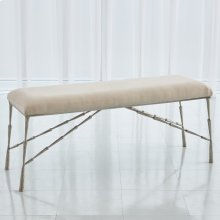 Spike Bench w/Muslin Cushion-Antique Nickel-Lg