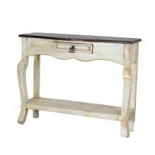 White/Walnut Ale Console