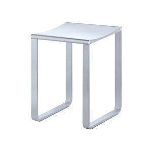 Bathroom stool - chrome-plated/dark grey (RAL 7021)