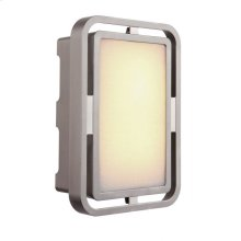 Metal Frame LED Illuminated Chime with White Linen Glass