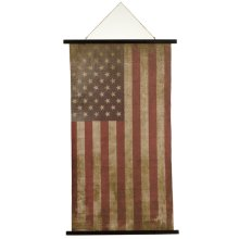 Vintage American Flag Rolled Canvas Wall Decor