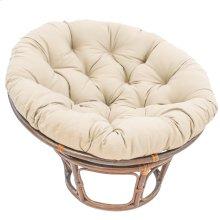 Bali 42-inch Indoor Fabric Rattan Papasan Chair - Walnut/Natural