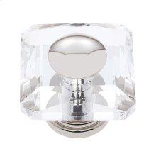 Polished Nickel 50 mm Square Crystal Knob