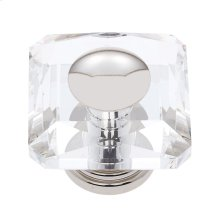 Polished Nickel 50 mm Square Crystal Knob