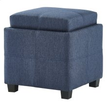 Luxy Square Storage Ottoman in Blue-Grey