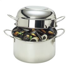 Demeyere RESTO 8-inch round Mussel pot, (no colour)