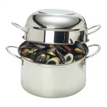 Demeyere RESTO 8-inch round Mussel pot, (no colour)