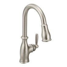 Brantford spot resist stainless one-handle pulldown kitchen faucet
