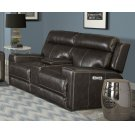 Glacier Graphite Power Console Loveseat Product Image